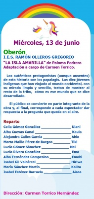 Muestra Teatro infantil: I.E.S. RAMÓN OLLEROS GREGORIO